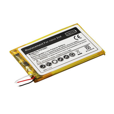 3.7V 450mAh Replacement Battery for Apple iPod Nano 2nd Gen 2GB 4GB 8GB 616-0283