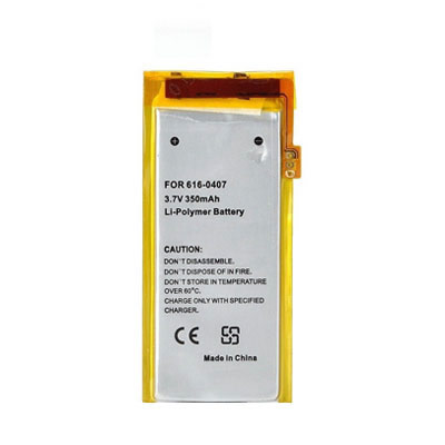 3.7V 350mAh Replacement Battery for Apple iPod Nano MB911LL/A MB907LL/A