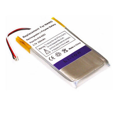 3.7V 350mAh Replacement Battery for Apple iPod 1st Gen Nano MA350LL/A MA352LL/A MA004LL/A