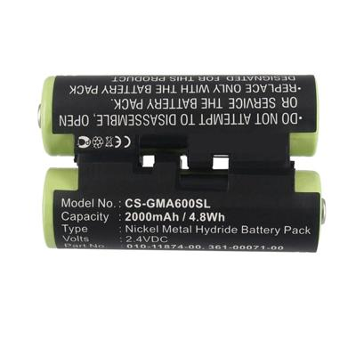 2.4V 2000mAh Replacement Li-ion Battery for Garmin 010-01550-00 Astro 430 handheld