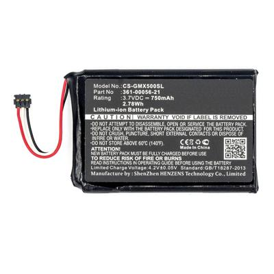 3.7V 750mAh Replacement Li-ion Battery for Garmin 361-00056-21 Driveluxe 50 LMTHD 010-01531-00