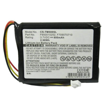 3.7V 800mAh Replacement Battery for TomTom CS-TM500SL CSTM500SL F650010252 F709070710