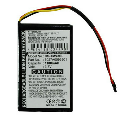 3.7V 1100mAh Replacement Battery for TomTom 6027A0093901 4EM0.001.01