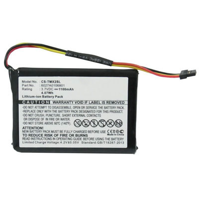 3.7V 1100mAh Replacement Li-ion Battery for TomTom 6027A0106801 4ET03 XL Live 4EM0.001.02