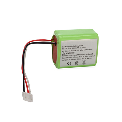 7.2V 3.0Ah Replacement Vacuum Battery for iRobot Braava 380 380T Mint 5200 5200B 5200C