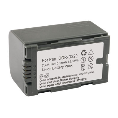 2100mAh Replacement Camcorder Battery for Panasonic CGR-D220A/1B CGR-D220E/1B VBS0419
