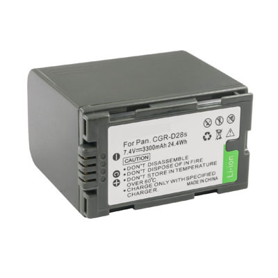 7.40V 3300mAh Replacement Battery for Panasonic VW-VBD33 VW-VBD35 VW-VBD40