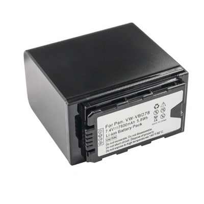 7.4V 7800mAh Replacement Battery for Panasonic VW-VBD98 VW-VBD58 VW-VBD78