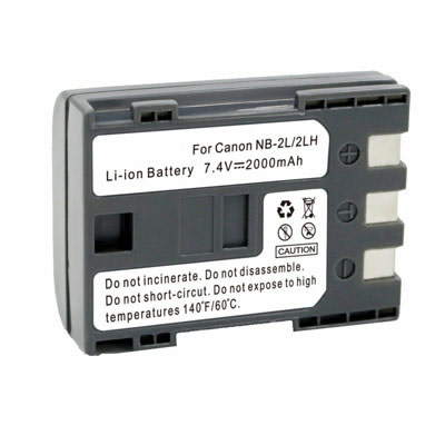 7.4V 2000mAh Replacement Battery for Canon Elura 90 EOS 350D 400D Kiss Digital N Rebel XT XTi