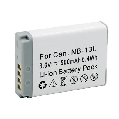 3.60V 1500mAh Replacement Battery for Canon NB-13L PowerShot G5 X G7 X Mark II