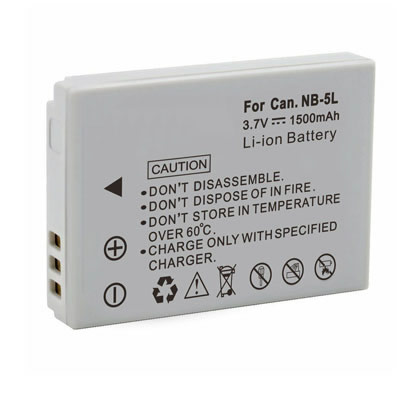 3.70V Replacement Battery for Canon NB-5L NB5L PowerShot S100 SD850 SD970 IS SX230 HS