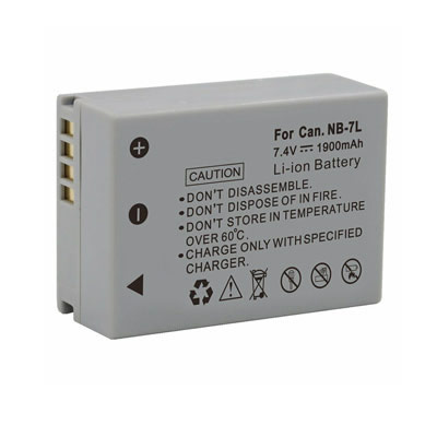 1900mAh Replacement Battery for Canon NB-7L NB 7L PowerShot G10 G11 G12 SX30 IS