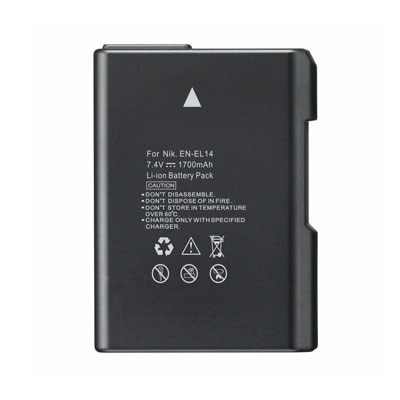 7.4V 1700mAh Replacement Battery for Nikon EN-EL14 EN-EL14A EN-EL14e D3100 DSLR