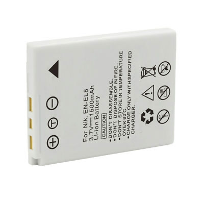 3.7V 1500mAh Replacement Battery for Nikon EN-EL8 Cool-Station MV-11 MV-12