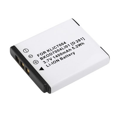3.70V 1400mAh Replacement Battery for Kodak KLIC-7004 KLIC7004 EasyShare M1033 V1073 V1233 V1253 Zi8