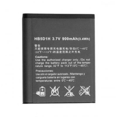 3.7V 900mAh Replacement Battery for Huawei HB5D1H Pillar M615 and Pinnacle 2 M635