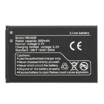 3.7V 800mAh Replacement Battery for Huawei VODAFONE V715 V716 HBU83S