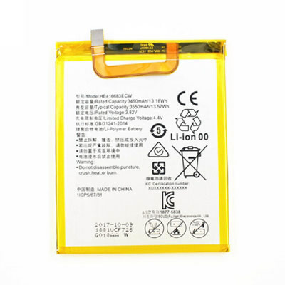 3.82V 3450mAh Replacement Battery for Huawei HB416683ECW Google Nexus 6P H1511 H1512